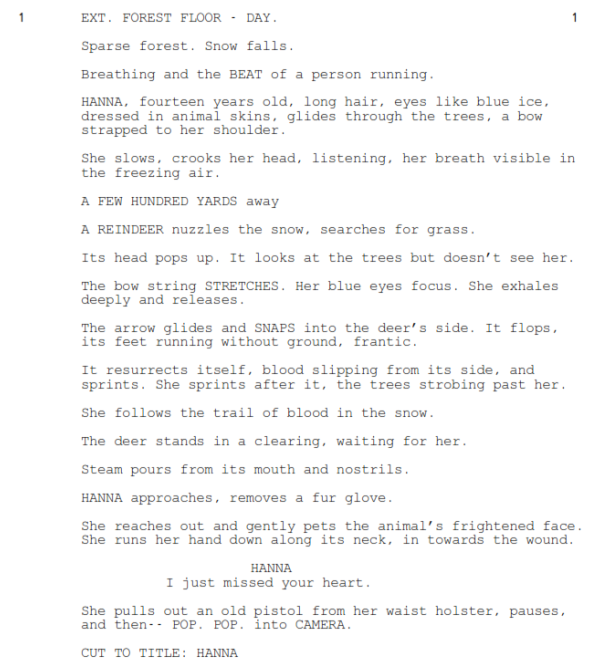 Hanna - 1st Scene